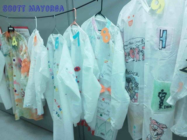 Lab Week Celebration Games - design your own lab coat contest?!  Brilliant!