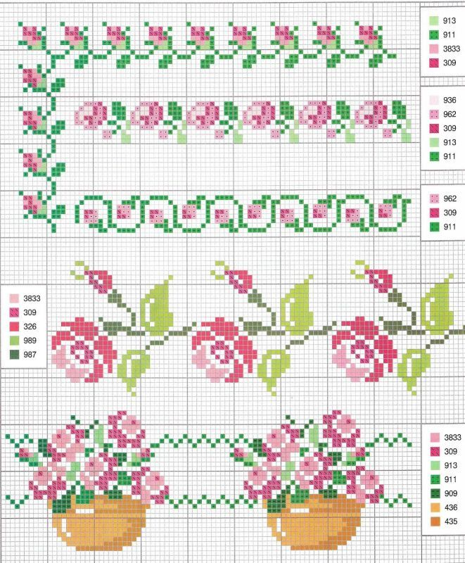 Patterns for embroidery or weaving