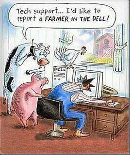 Computers...: Dell, Farmers, Giggle, Tech Support, Funny Stuff, Funnies, Humor