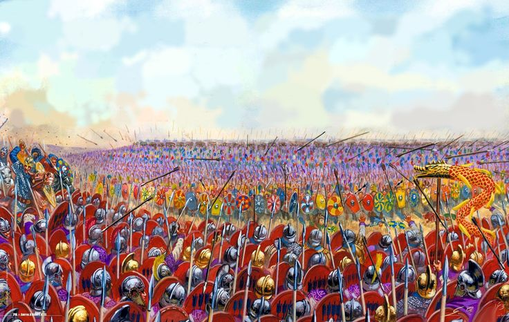 Byzantine legions at the Battle of Adrianople against the Goths