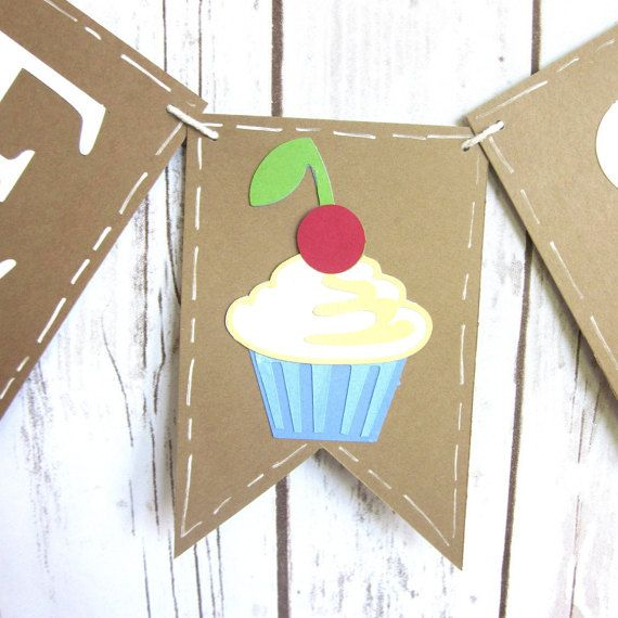 Bake Sale Banner / Sign / Photo Prop / Cupcake by WootandWooks