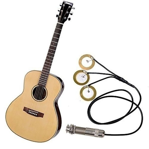 High Quality Acoustic Guitar Ukulele Mandolin Banjo Pickup Piezo Jack Disc Transducer Wish Acoustic Instrument Acoustic Guitar Pickups Guitar Pickups