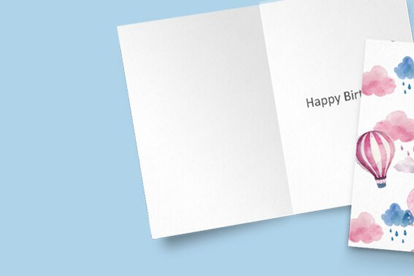 Personalised Greeting Cards Professionally Printed by Solopress. Upload your own Artwork, or have it Bespoke Designed! Free UK Delivery.