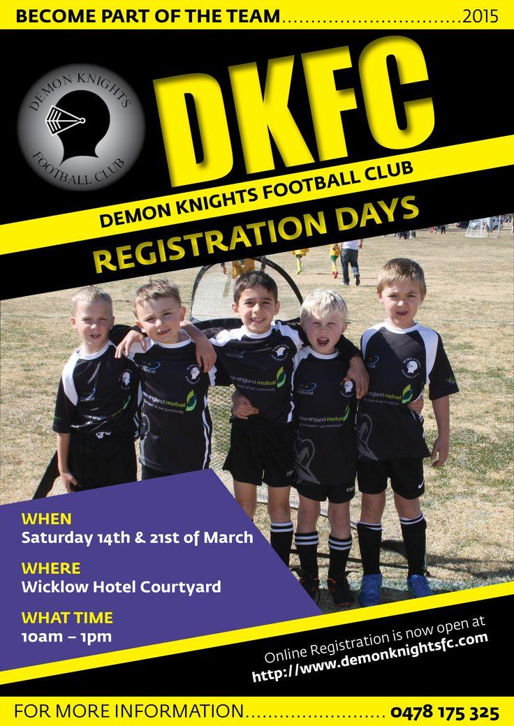 DKFC Registration Day flyer