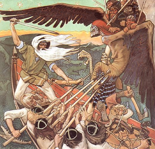 Akseli Gallen-Kallela and the Kalevala // art movements : Romantic nationalism, Realism, Symbolism