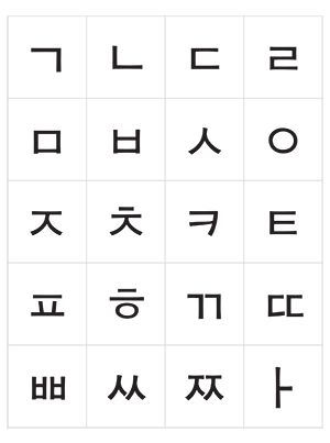 how to write a korean alphabet flashcards