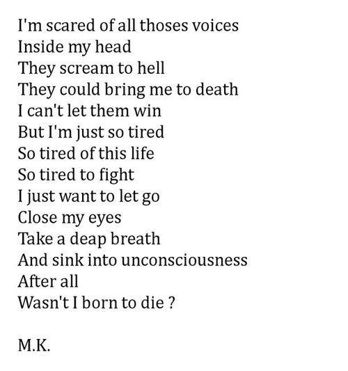 Sad Quotes About Depression: Tumblr Depression Poems Depression Poems All Poems