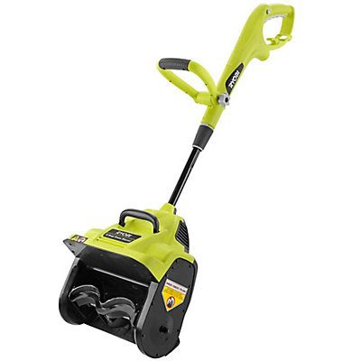 The Ryobi 12-inch Electric Snow Shovel $119 | Engineered to remove snow quickly from patios, decks and driveways. With a powerful 8 amp motor, this snow blower provides consistent, quiet power that efficiently discharges snow up to 20 ft. For added convenience, the tool is equipped with a push button start as well as a telescoping handle for easy storage. Backed by the Ryobi 3-Year Limited Warranty. | Home Depot