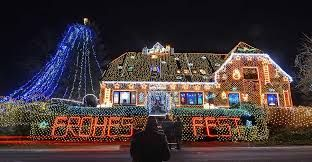Image result for christmas lights on houses