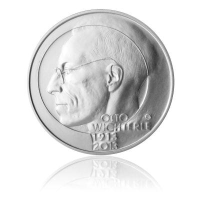 Stříbrná mince 200 Kč 2013 Otto Wichterle stand | Česká mincovna