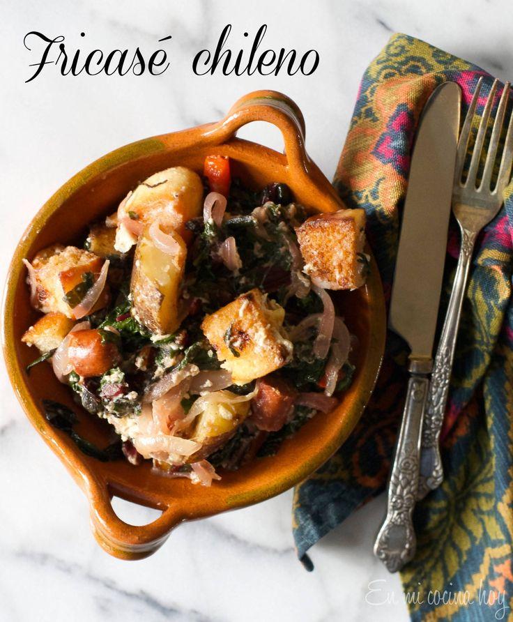 El fricasé chileno es una comida de campo, era a mi gusto el plato estrella de mi abuela, esta versión es mi homenaje. Con acelgas y salchichas.