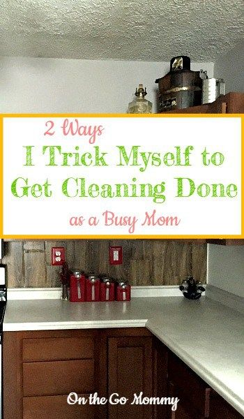 Are you struggling with motivation to get cleaning done that desperately needs it? I struggle. Alot. How annoying is it to clean it just to have your kids destroy it. Very! Besides that point, it's hard to get motivated to clean. But I simply trick myself! These 2 strategies work like a charm 99% of the time. The other 1%? I am probably so sleep deprived I can't function so don't even try to tempt me to clean. Try these 2 strategies and see if they work for you too!