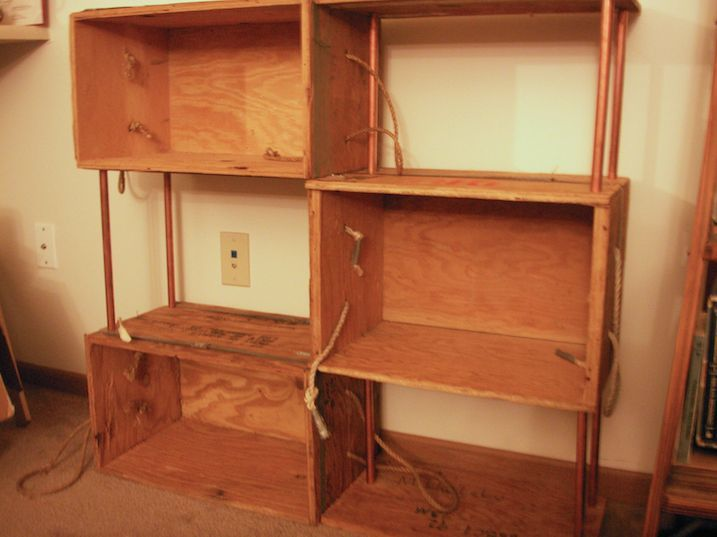 Picture of Bookshelf from wooden boxes