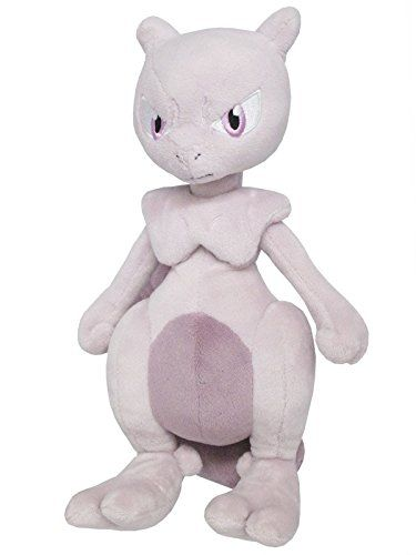 Sanei Pokemon All Star Collection Mewtwo Stuffed Plush Toy 10""