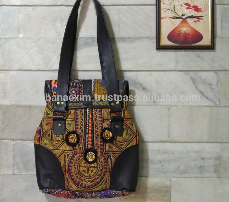 Check out this product on Alibaba.com APP Leather Antique patch bag Stylish Tribal Banjara Shoulder Bag