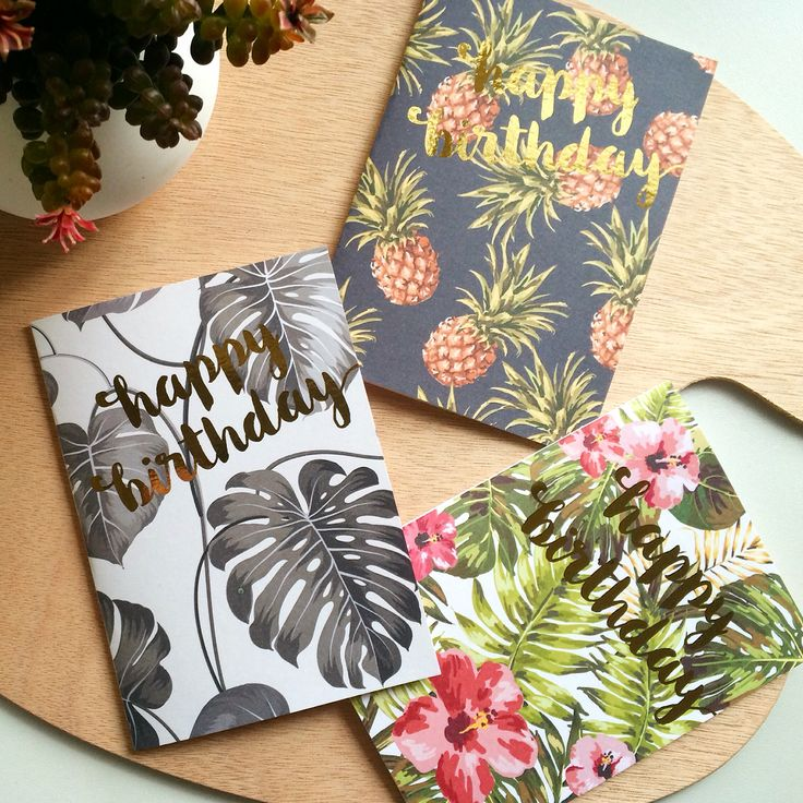 It's a jungle out there! Jungle inspired greeting cards with gold foil!