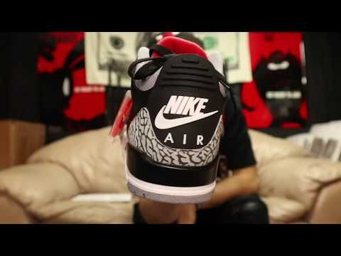 Unboxing the 2018 Nike Air Jordan Retro 3 Black Cement with Facts and Review
