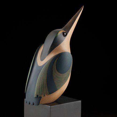 Kōtare • Kingfisher by Rex Homan, Māori artist (KR121005)