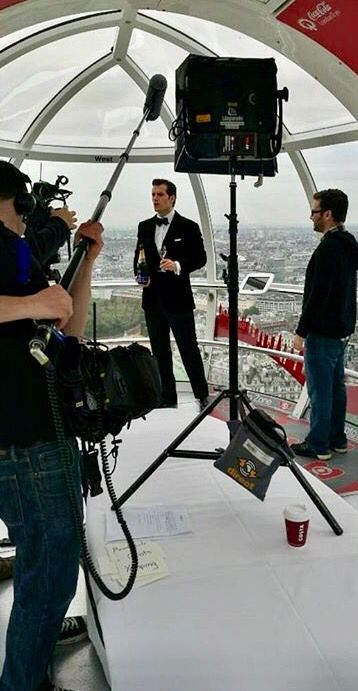 How much more classy than a man in a tux holding a bottle of champagne and offering to share a glass with him... lol!! ;)
