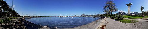 Marina da Glória - Aterro do Flamengo - Parque do Flamengo - Flamengo - monumento dos Pracinhas - Pão de Açúcar - Baía de Guanabara - Rio de Janeiro - Brasil