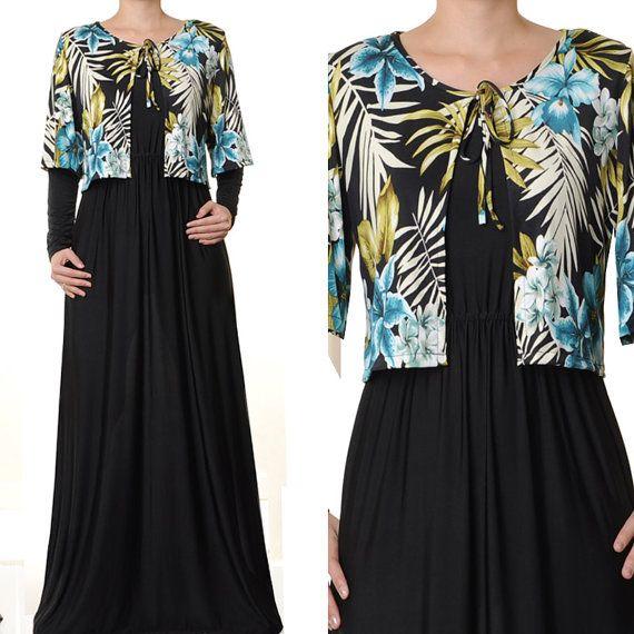 Islamic Abaya Jersey 2 Piece Cardigan Stole Long by MissMode21, $28.00