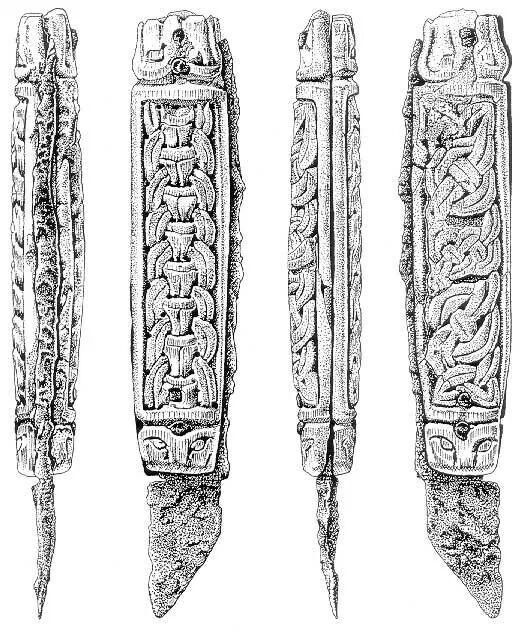 """The """"Canterbury knife"""". 'Viking' design in a saxon type knife."""