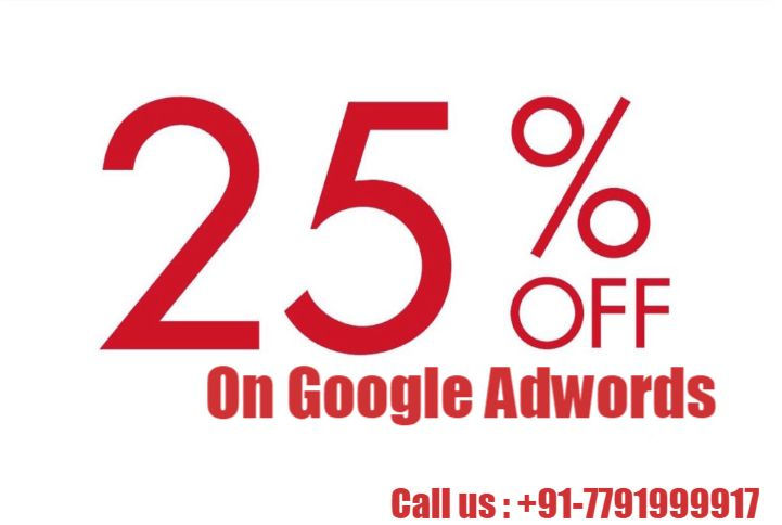 UWSI Offers flat 25% Off on #GoogleAdwords @http://uwsi.co.in/ Offer includes two month Free consultation . Hurry !! Limited time offer. Visit now.