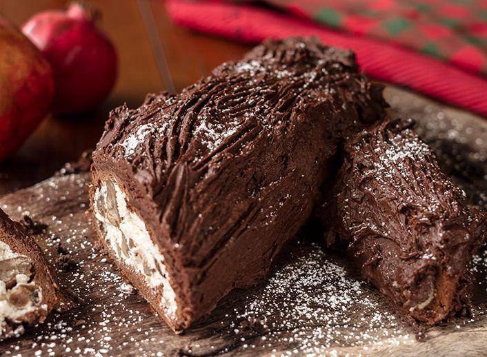 Χριστουγεννιάτικος κορμός με πραλίνα και καραμελωμένα κάστανα! | Sokolatomania.gr, Οι πιο πετυχημένες συνταγές για οσους λατρεύουν την σοκολάτα και τις γλυκές γεύσεις.