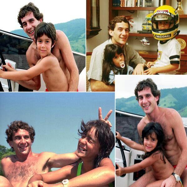 Ayrton with his nephew Bruno and niece Bianca  .#jorgenca