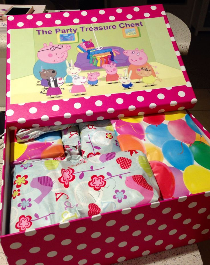 The party treasure chest. For pass Peppa