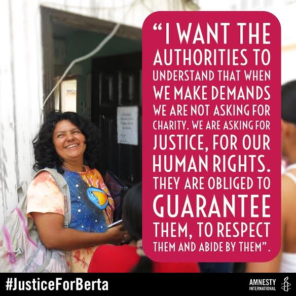 Raise YOUR voice to protect threatened human rights defenders in Honduras and ensure Berta's killers do not get away with murder. TAKE ACTION NOW >> http://amn.st/6495B5Lzc