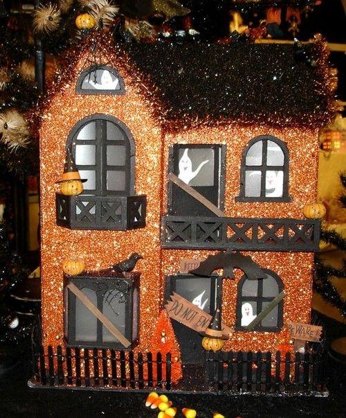 Halloween Home Design Ideas: 92 Best Cardboard Christmas Houses Images On Pinterest