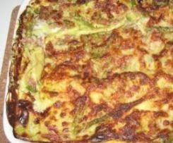 Lasagne al prosciutto crudo e asparagi