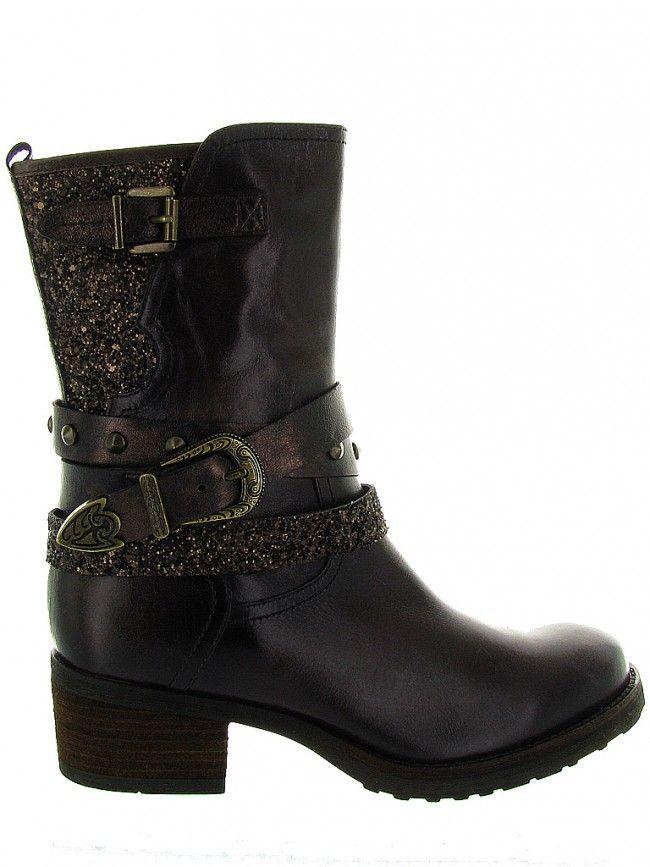 MAMZELLE - DISTOL - Marron fonçé, Boots / Bottines pour Femme – Chaussures Online