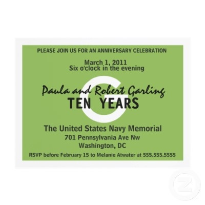 tenth anniversary celebration ideas