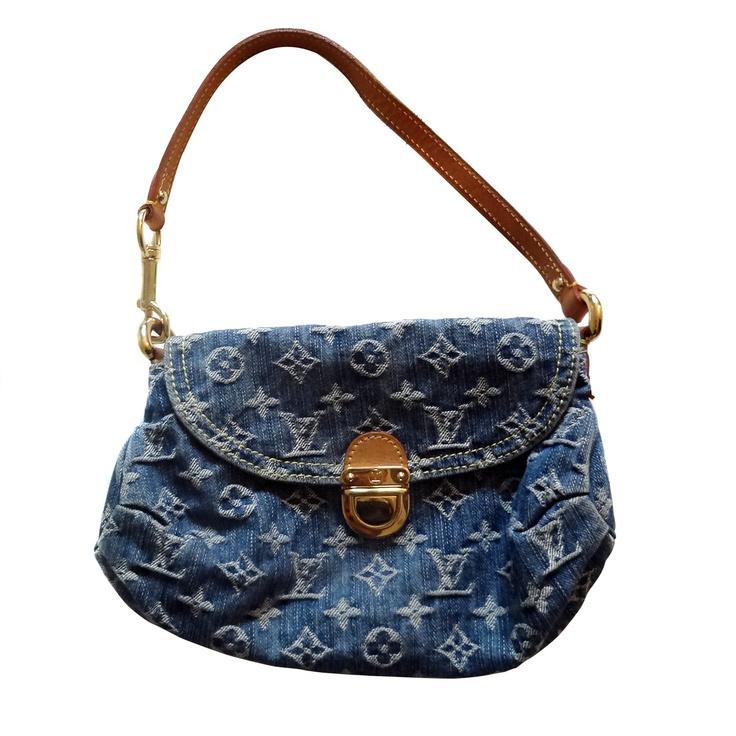 Bolso de mano Louis Vuitton de material tejano. Comprado en la ...