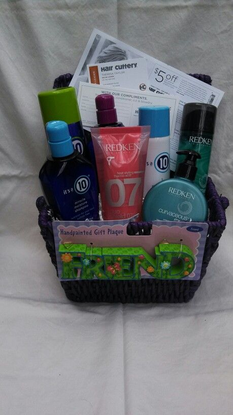 Hair Product Gift Basket Dont Hate On My Craft Appeal Pinterest Arbonne Gifts And Hair