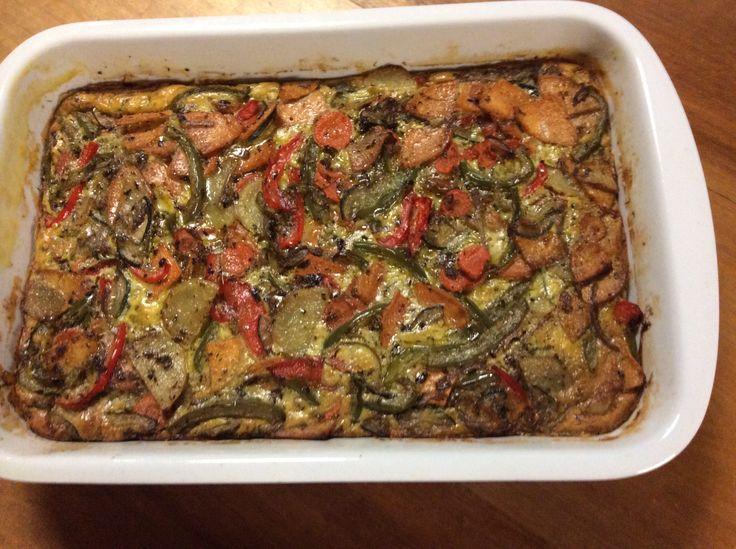 Layered vegetable frittata
