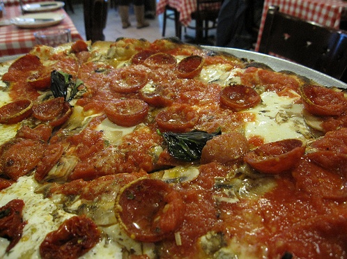 Some speculate that the sizzling liquid inside of Grimaldi's pepperonis is actually water from the fountain of youth. #Grimaldis