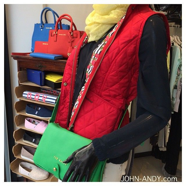 Good morning with #lovely #colors and lovely #brands #barbour #tedbaker #michaelkors #furla #maisonscotch #fiftycarat www.john-andy.com