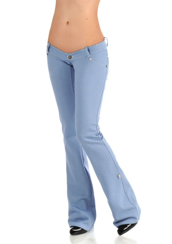 Nano Low Rise Jeans Light Blue Low Rise Jeans Pants