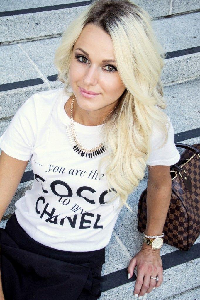 Chanel Tee Black Envelope Skort Fashion Blogger