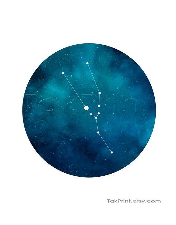 Taurus Constellation Print Taurus Zodiac Art Print Taurus  b93cc691db