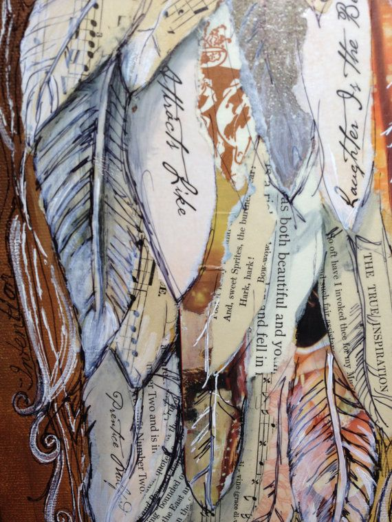 Angel Wings Mixed Media painting by Michelle Lake custom ...