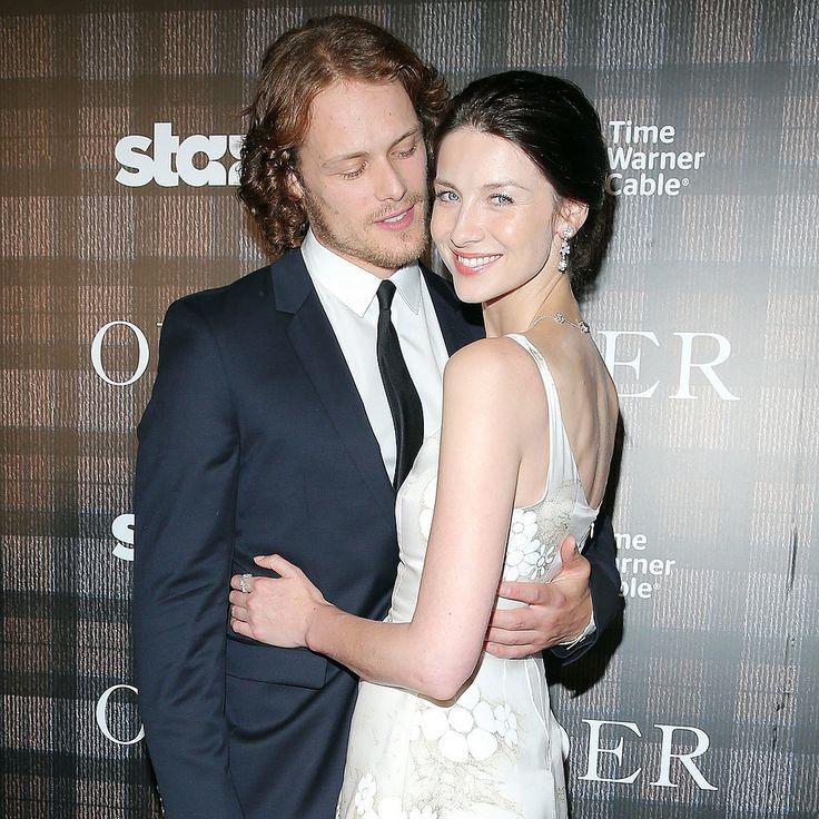 "Outlander's Caitriona Balfe and Sam Heughan on Their ""Slightly Awkward"" Love Scenes"