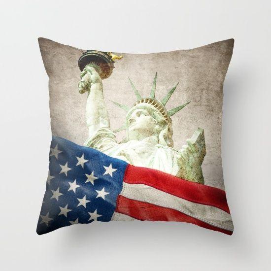 Liberty  #art #design #america #usa #patriot #throwpillow #exclusive #homedecor #interior #star #cushion #design #america #artist #liberty