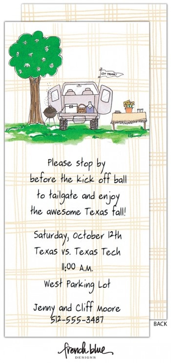 Tailgate Invite by French Blue