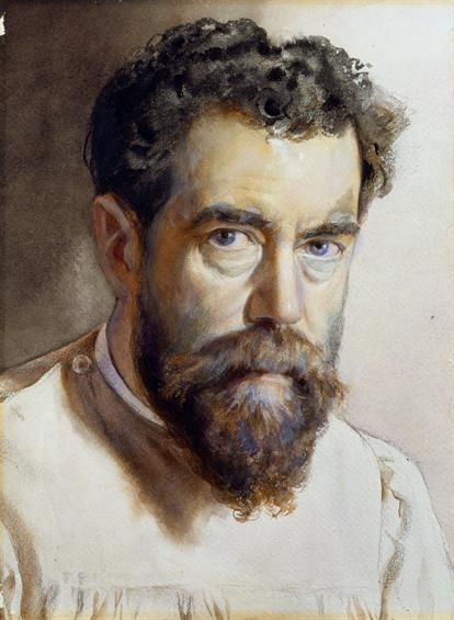 * Alfredo Roque Gameiro * Auto-Retrato. (1864 - 1935).