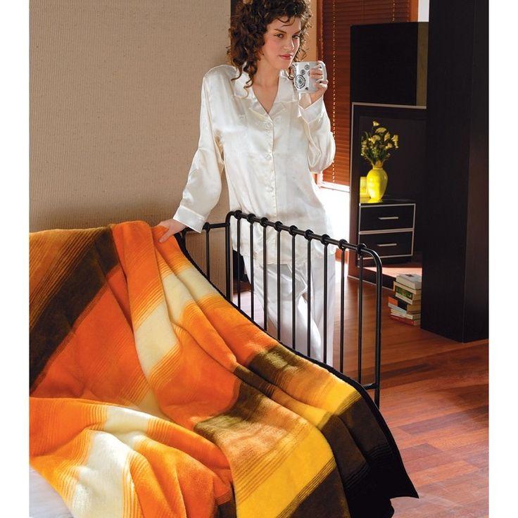 SOFTY NARANCS 107 mintás akril takaró 150x200 cm, Díszpárna.com Webáruház