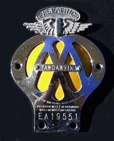 Royal East Africa Automobile Association - REAAA - Tanganyika